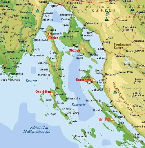 An interactive map of Kvarner...