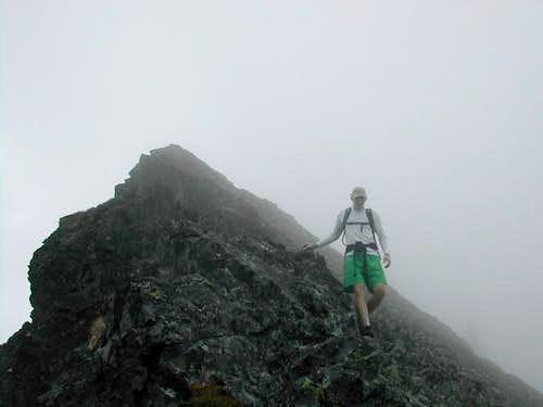 Skook coming down the ridge...