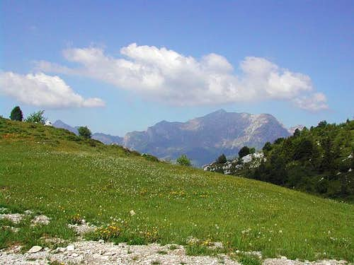 the Grigne ridge from Piani...