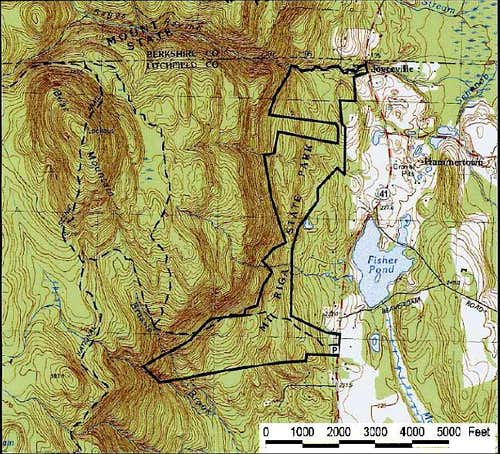 Topo map of Bear Mtn,...