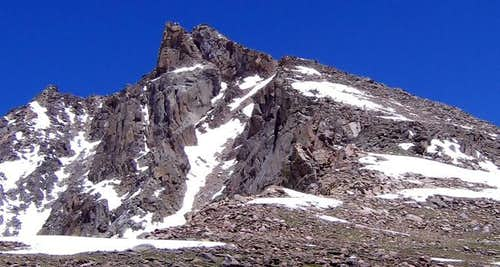 The s.w. ridge of Hagues Peak...