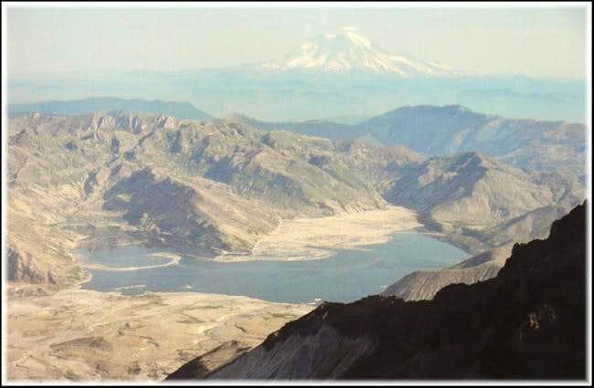 Spirit Lake and Mt. Rainier,...