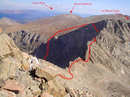 View of The Sawtooth route....