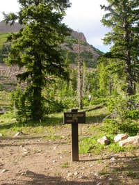 Trailhead at about 10600' to...