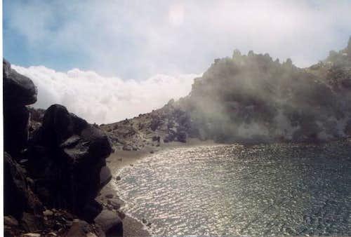 sabalan lake top of the summit