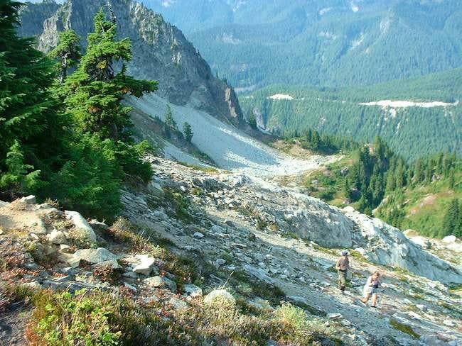 Ascending the western ridge...