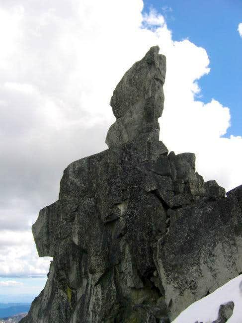Looking up at Sherpa Balanced...