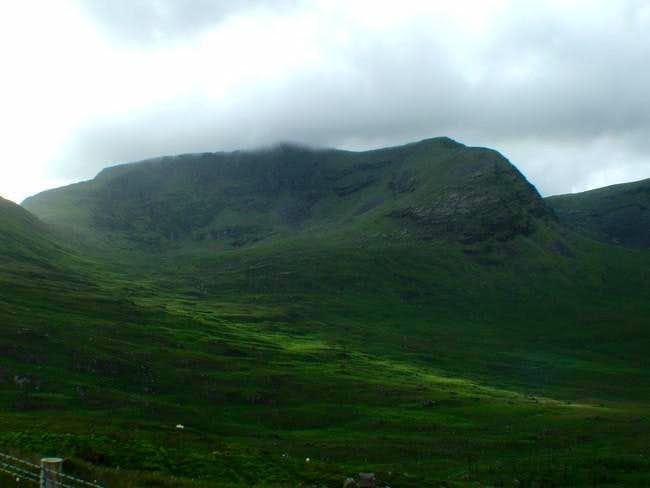 The east face of Mweelrea peak.