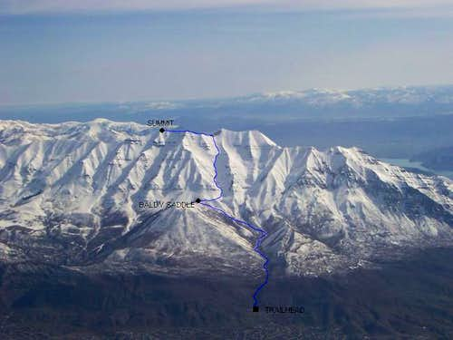 Timpanogos from the west in...