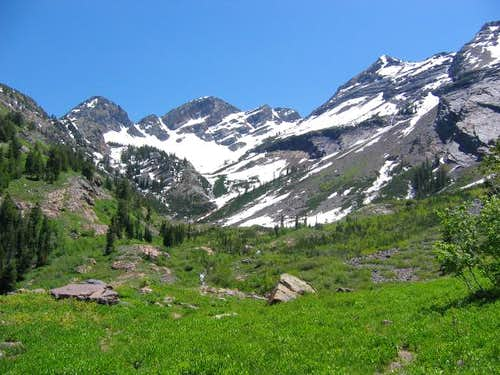 Late spring view of the upper...