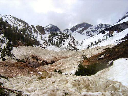 Broads Fork Avalanche Debris