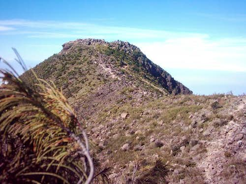 Mount Arjuna summit taken at...