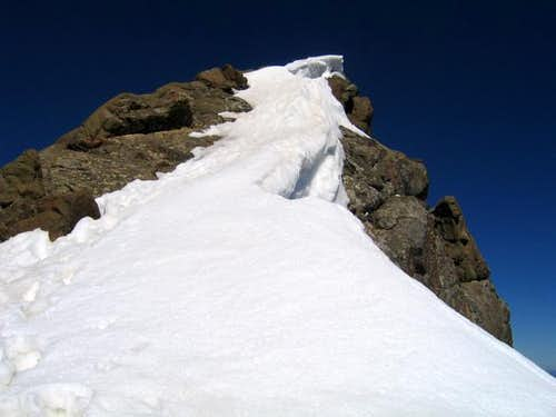 The summit pitch of Mount...