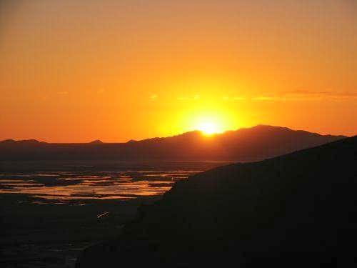 Sunset over Frary Peak, June...