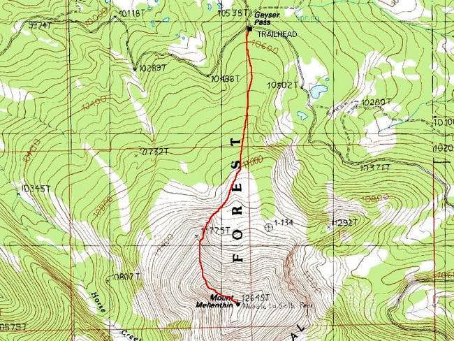Geyser Pass Route to the...