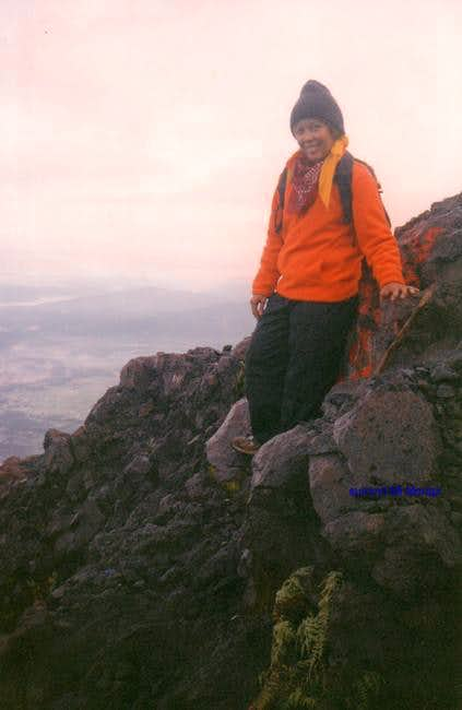 At the slope of Mount Marapi...