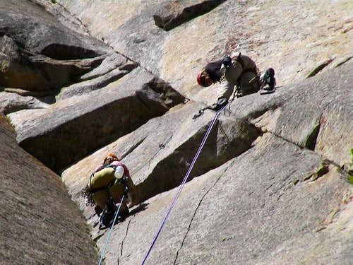 Shirley hangs out on Belay 2...