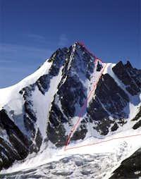 Berglerrinne and NW-ridge....