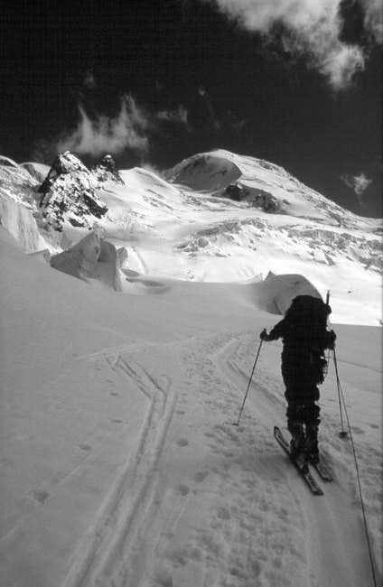 Skiing on the Bosson glacier...