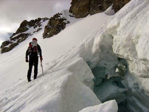 Middle Teton Glacier Bergschrund