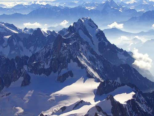 Grandes Jorasses seen from...