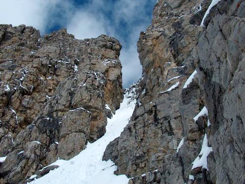 The final couloir up Peak 4,...