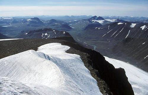 View from Kebnekaise...