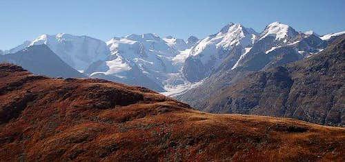Bernina mountains including...