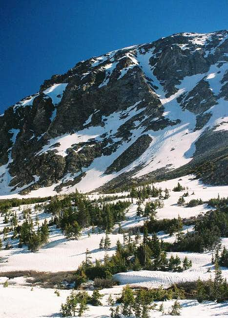 Skywalker Couloir from Fourth of July Mine