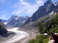 View on the Mer de glace from...