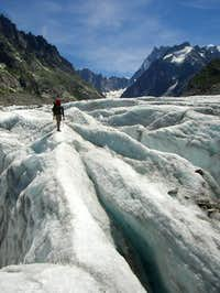 On the Mer de glace