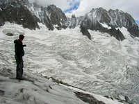 Approach on the Glacier du...