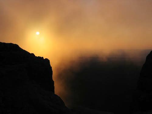 Sunrise from the summit. ...