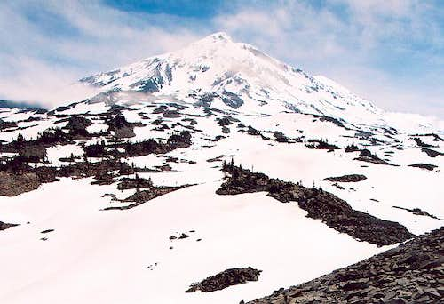 The west side of Mt. Adams on...