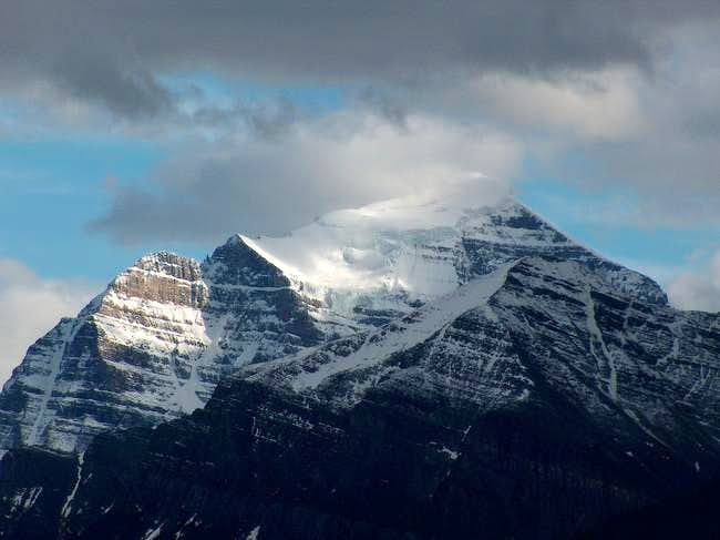 Mt. Temple's East Ridge=Left...