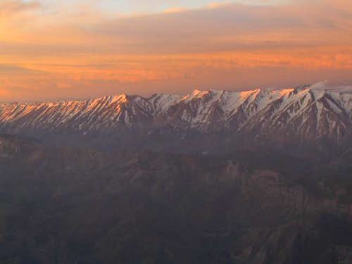 sunrise from south face at...