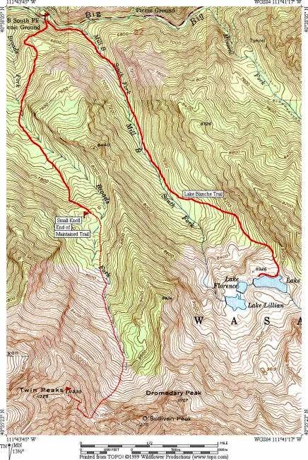 Trail Map of Routes (complied...