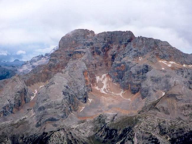 Croda Rossa viewed from the...