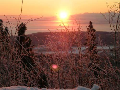 Sun rising over the Alaska...