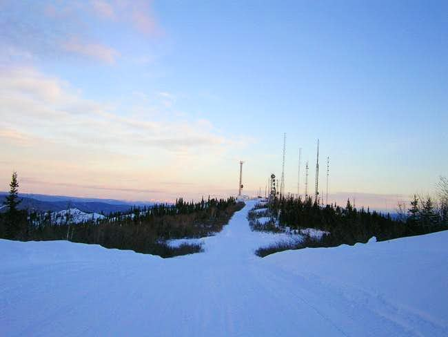 Radio/TV towers at the summit