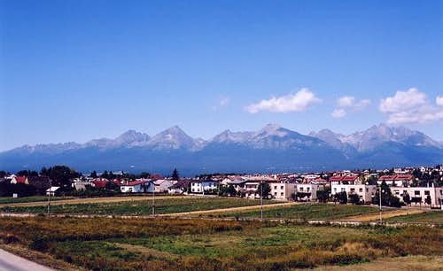 High Tatra Mountain range...