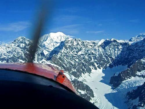 Flying to Kahiltna Glacier on...