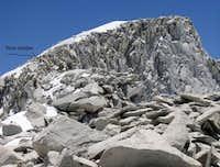 Mount Abbot - on the ridge...