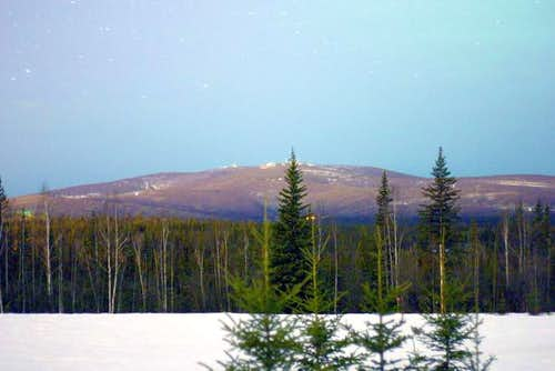 Ester Dome from the valley