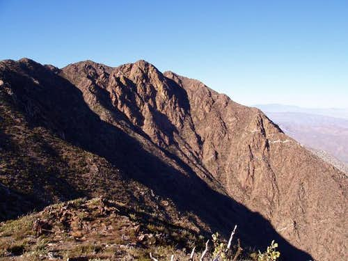 Garnet Peak as seen from the...