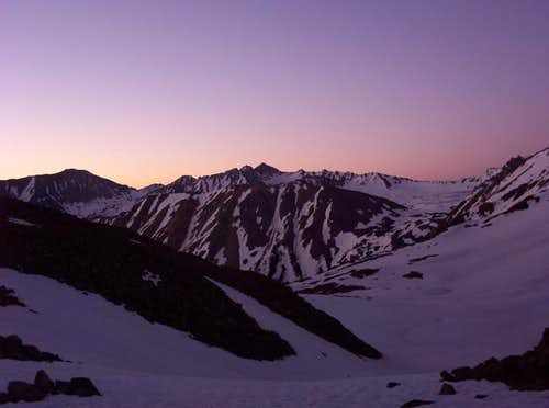Sunrise from Montezuma Basin....