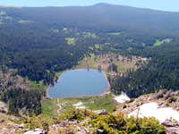 Pecos Baldy Lake from the...