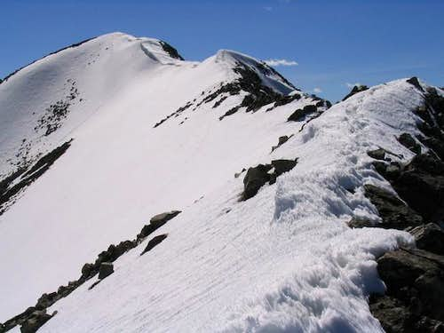 Looking along the East Ridge...