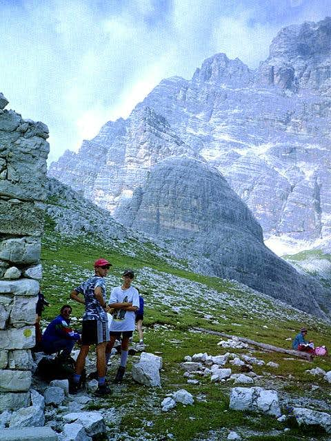 from the ruins of Rifugio...