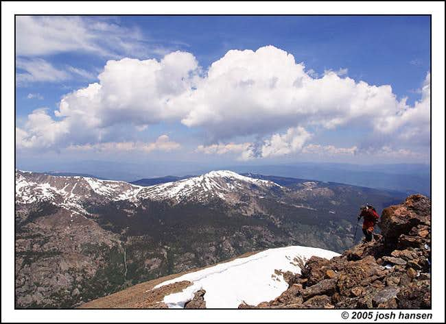 Descending the North Ridge of...